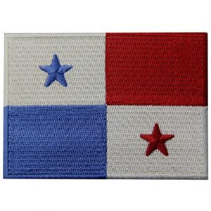 EmbTao Airsoft Morale Patch 1 Panama Flag Embroidered Emblem Panamanian Iron On Sew On National Patch