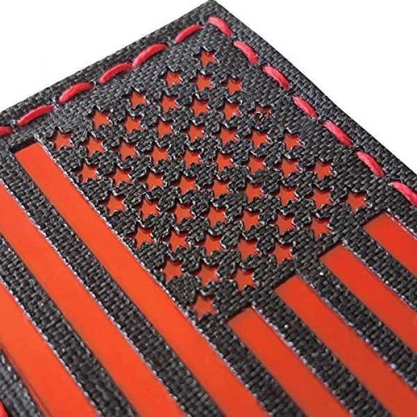 Tactical Freaky Airsoft Morale Patch 1 Reflective Red 3.5x2 USA American Flag Tactical Morale Uniform Fastener Patch