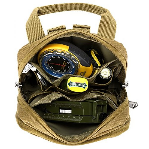 Barbarians Tactical Pouch 2 Barbarians Tactical Admin Pouch, MOLLE Military Tool Map Bag Organizer