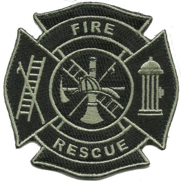 Gadsden and Culpeper Airsoft Morale Patch 1 Fire & Rescue Tactical Patch - Black & Silver