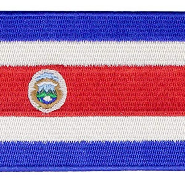 EmbTao Airsoft Morale Patch 2 The Republic of Costa Rica Flag Patch Embroidered Applique Costa Rican Iron On Sew On National Emblem
