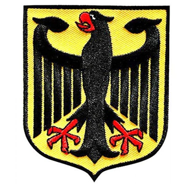Embroidered Patch Airsoft Morale Patch 2 3pc Germany Coat of Arms Patch German Eagle Shield 3D Tactical Patch Military Embroidered Morale Tags Badge Embroidered Patch DIY Applique Shoulder Patch Embroidery Gift Patch