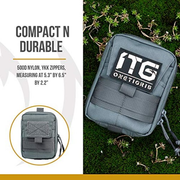 OneTigris Tactical Pouch 3 OneTigris BLADE Multiuse Tool Holder Pouch MOLLE Organizer with Pockets & Tool Slots