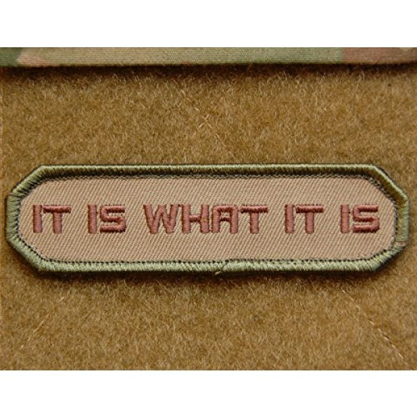 BritKitUSA Airsoft Morale Patch 1 Multicam IT IS WHAT IT IS Army MilSpec Morale Patch