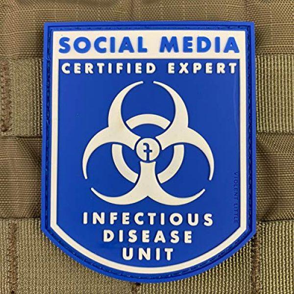 "Violent Little Machine Shop Airsoft Morale Patch 2 Violent Little""Certified Social Media Expert Infectious Diseases"" Morale Patch"