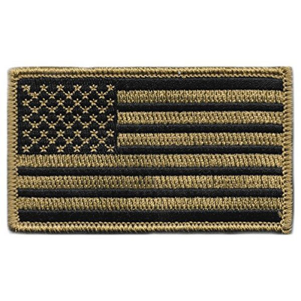 """Gadsden and Culpeper Airsoft Morale Patch 1 2"""" x 3.5"""" - USA Tactical Patch - Coyote"""