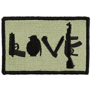 OneTigris Airsoft Morale Patch 1 OneTigris Original Patch Tactical Morale Military Patch (Love - Olive Green)