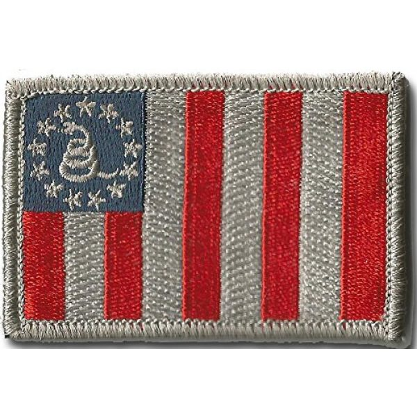 Gadsden and Culpeper Airsoft Morale Patch 1 Sons Of Liberty/Gadsden Tactical Patch - Subdued Silver/Blue
