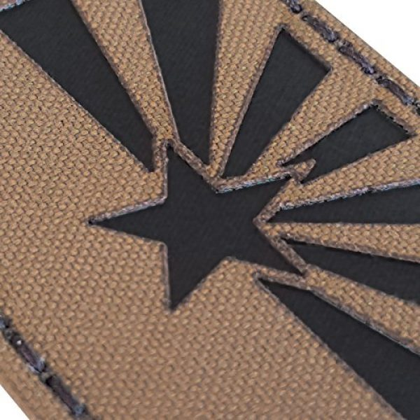 Tactical Freaky Airsoft Morale Patch 6 Coyote Brown Tan Infrared IR Arizona Flag 3.5x2 IFF Tactical Morale Fastener Patch