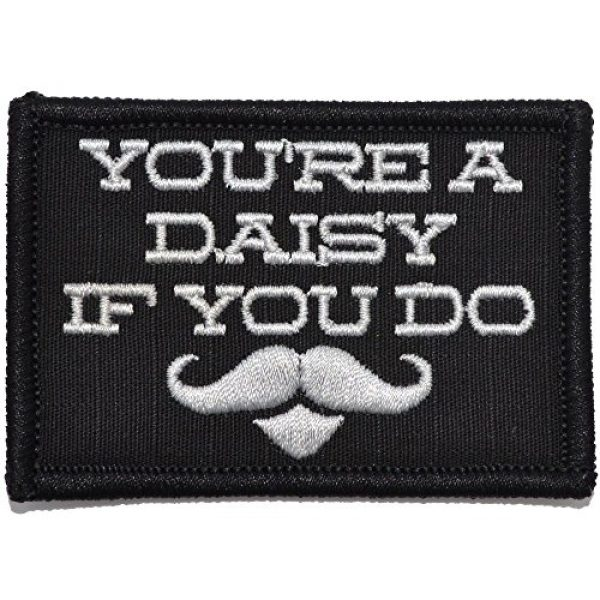 Tactical Gear Junkie Airsoft Morale Patch 1 You're A Daisy If You Do, Doc Holiday Quote - 2x3 Patch - Black