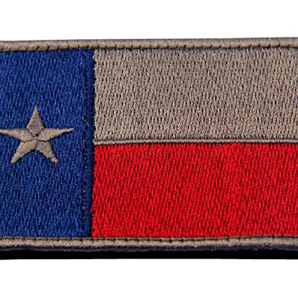 EmbTao Airsoft Morale Patch 2 EmbTao Texas Embroidered Tactical Fastener Hook&Loop Patch - Blue & Red