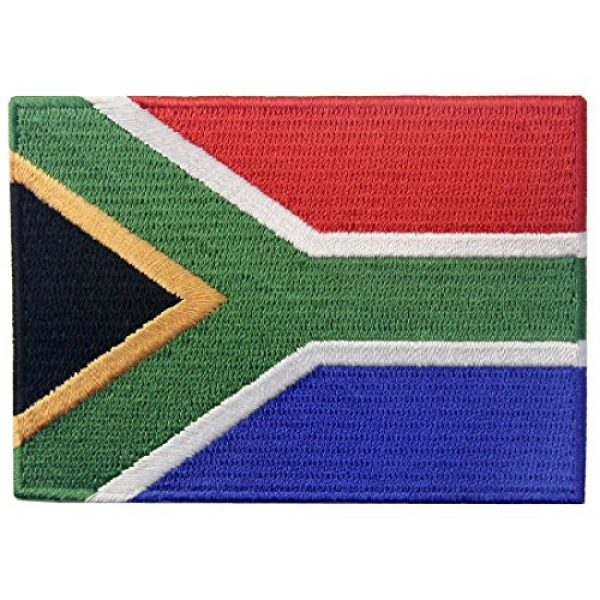 EmbTao Airsoft Morale Patch 1 South Africa Flag Embroidered African Emblem Iron On Sew On National Patch