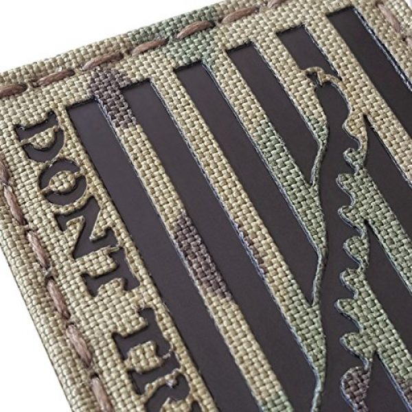 Tactical Freaky Airsoft Morale Patch 6 Multicam Infrared IR US First Navy Jack Dont Tread On Me DTOM Flag 3.5x2 Tactical Morale Hook&Loop Patch
