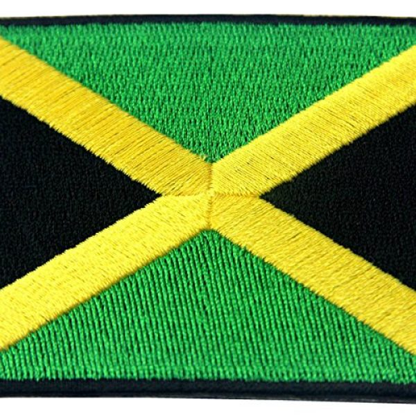 EmbTao Airsoft Morale Patch 2 Jamaica Flag Embroidered Emblem Rasta Jamaican Rastafarian National Iron On Sew On Patch