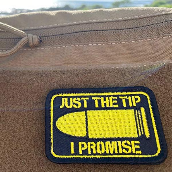 """Violent Little Machine Shop Airsoft Morale Patch 6 """"Just The Tip I Promise"""" Morale Patch by Violent Little - Embroidered Velcro"""