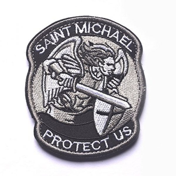 Zhikang68 Airsoft Morale Patch 1 Saint Michael Modern Morale Patch Tactical Military Army Embroidered Sew on Tags Operator Patches with Hook and Loop Fasteners Backing-Multitan