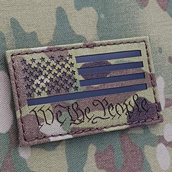 Tactical Freaky Airsoft Morale Patch 1 Tactical Freaky IR Multicam We The People American USA Flag 2nd Amendment 2A ConstitutionTactical Morale Hook&Loop Patch