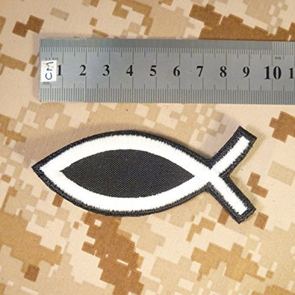 LEGEEON Airsoft Morale Patch 5 LEGEEON Glow Dark Ichthys Jesus Fish Christian ISAF Ichthus Morale Sew Iron on Patch