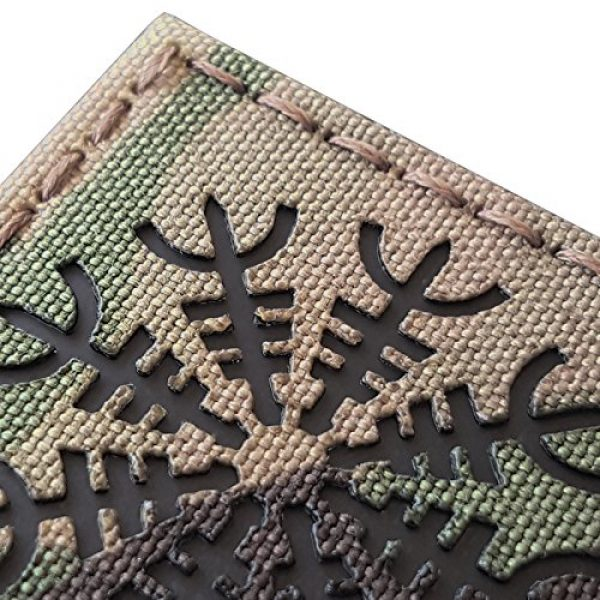 Tactical Freaky Airsoft Morale Patch 4 Multicam Infrared IR Aegishjalmur Helm of Awe Viking Norse 2x2 IFF Tactical Morale Hook&Loop Patch