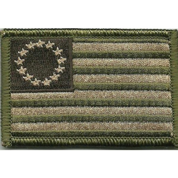 Gadsden and Culpeper Airsoft Morale Patch 1 Tactical Betsy Ross Flag Patch - Multitan