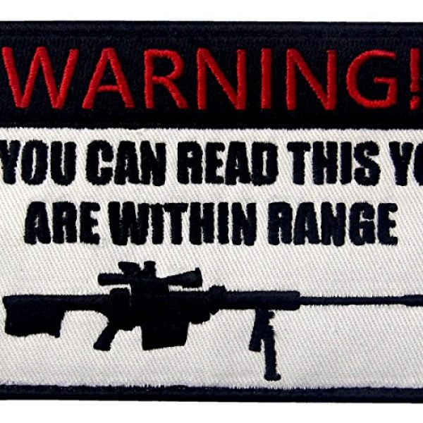 EmbTao Airsoft Morale Patch 2 If You Can Read This You are Within Range Tactical Military Morale Applique Fastener Hook & Loop Patch