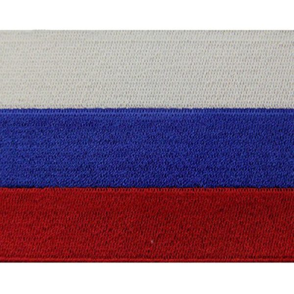 EmbTao Airsoft Morale Patch 2 Russia Flag Embroidered Emblem Russian Federation Iron On Sew On National Patch