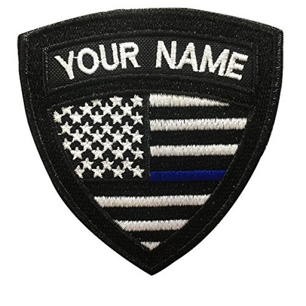 Graceful life Airsoft Morale Patch 1 Custom US Military Name Patch, Custom Embroidery Name Patches 2 PCS, Personalized Tactical Military Patches, Number Tag with Hook and Loop for Clothing Backpacks Caps Hats Jackets(2)