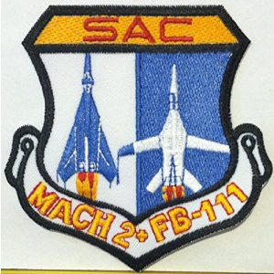 Fast Service Designs Airsoft Morale Patch 1 US F-111 AARDVARK SAC MACH 2 IRON-ON Morale Patch TAC FTR SQUADRON AFB