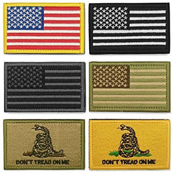 WZT Airsoft Morale Patch 1 WZT Bundle 6 Pieces American Flag Tactical Morale Military Patch Set