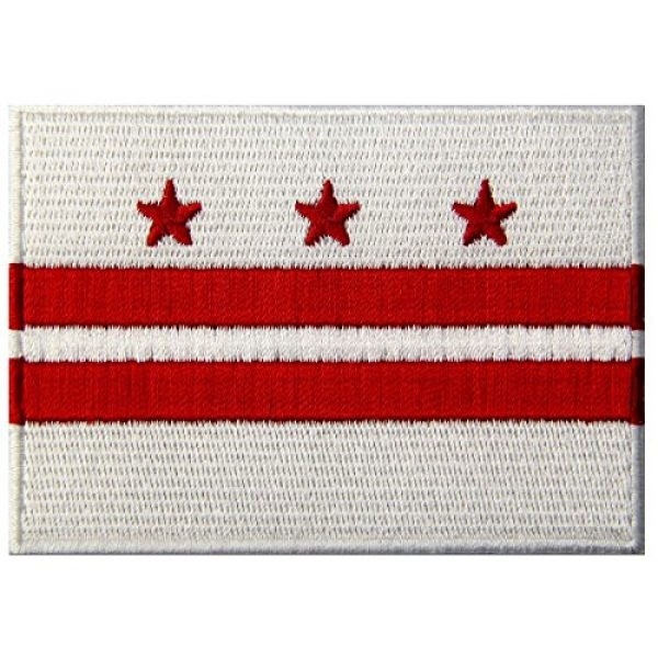 EmbTao Airsoft Morale Patch 1 Washington DC State Flag Embroidered Patch Iron On Sew On District of Columbia Emblem