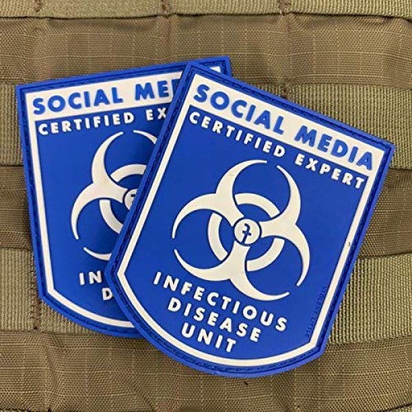 "Violent Little Machine Shop Airsoft Morale Patch 3 Violent Little""Certified Social Media Expert Infectious Diseases"" Morale Patch"