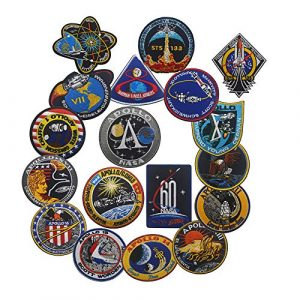 Zhikang68 Airsoft Morale Patch 1 18 PCS NASA Apollo Mission Patch Set 1,7,8,9,10,11,12,13,14,15,16,17,133,134,135 Space Patches 60th Annivers Embroidered Costume Applique Sew On Motorcycle Emblem for Travel Backpack Hats Jackets
