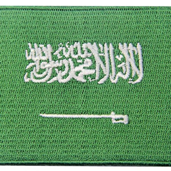EmbTao Airsoft Morale Patch 2 Saudi Arabia Flag Embroidered Arabian Emblem Iron On Sew On Arab National Patch
