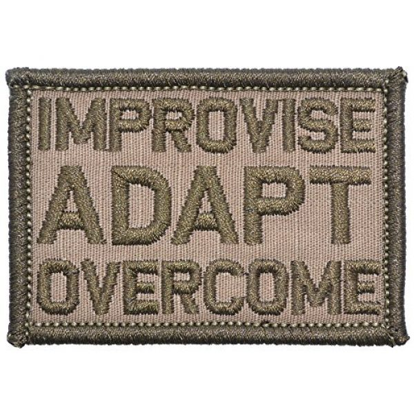 Tactical Gear Junkie Airsoft Morale Patch 1 Improvise Adapt Overcome - 2x3 Patch - Coyote Brown
