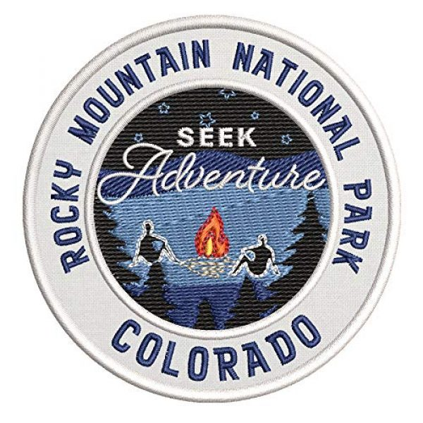 Appalachian Spirit Airsoft Morale Patch 1 Seek Adventure at Rocky Mountain National Park Embroidered Premium Patch DIY Iron-on or Sew-on Decorative Badge Emblem Vacation Souvenir Travel Gear Clothes Appliques