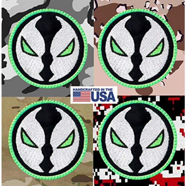 Tactical Patch Works Airsoft Morale Patch 4 Spawn Hell Cartoon Head Compatible Inspired Art Patch