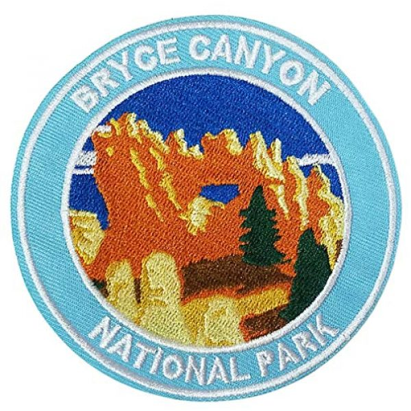 """Appalachian Spirit Airsoft Morale Patch 1 Bryce National Park 3.5"""" Embroidered Patch DIY Iron or Sew-on Decorative Vacation Souvenir Applique Wander Nature Wildlife Hike Trek Camping Explore Mountains Stars Moo Manatee"""