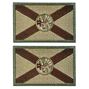 WZT Airsoft Morale Patch 1 WZT Bundle 2 Pieces Florida Tactical Flag Patch - Multitan Patch