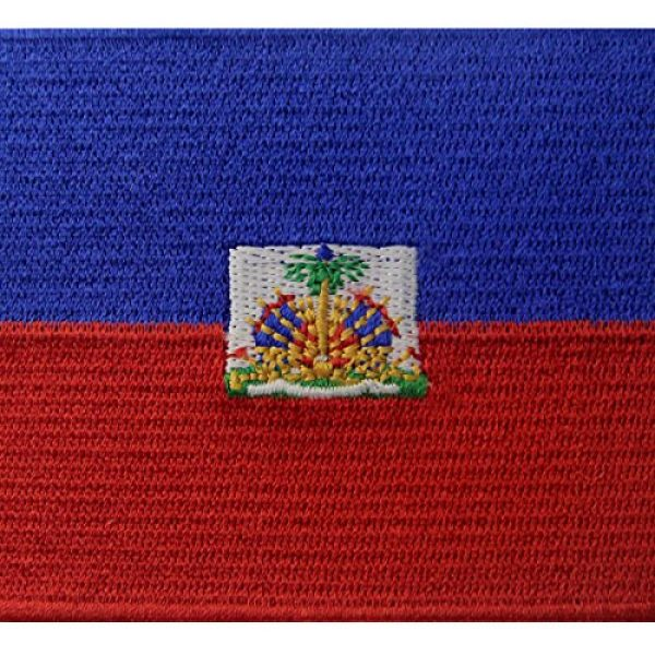 EmbTao Airsoft Morale Patch 2 Haiti Flag Embroidered Patch Haitian Iron On Sew On National Emblem