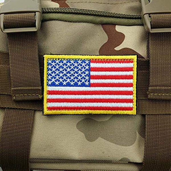 GrayCell Airsoft Morale Patch 5 GrayCell US Flag Dog Embroidered Tactical Morale Patch for Dog Harness & Vest- Set of 2 (US Flag)