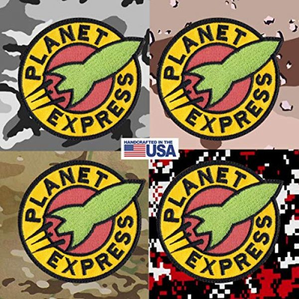 Tactical Patch Works Airsoft Morale Patch 4 Planet Express Futurama Inspired Art Patch