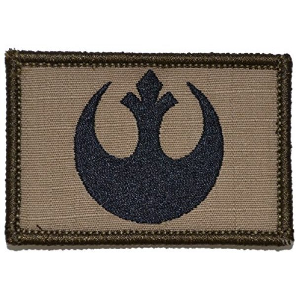 Tactical Gear Junkie Airsoft Morale Patch 1 Rebel Alliance Emblem 2x3 Patch (Coyote Brown with Black)