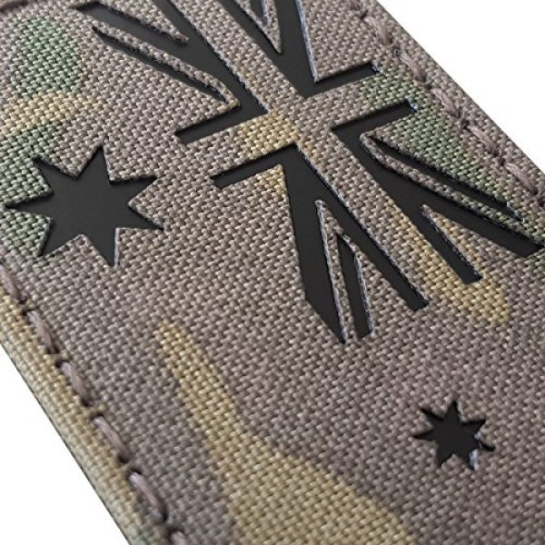 Tactical Freaky Airsoft Morale Patch 6 Australia Flag Multicam Infrared IR 3.5x2 IFF Tactical Morale Fastener Patch