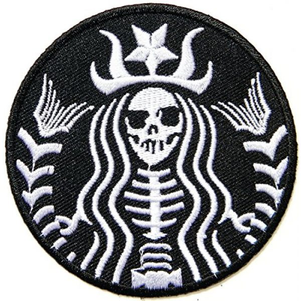 Graphic Dust Airsoft Morale Patch 1 Graphic Dust Halloween Funny Dead Skull Mermaid Zombie Skeleton Embroidered Iron On Patch Logo Costume Cosplay Black