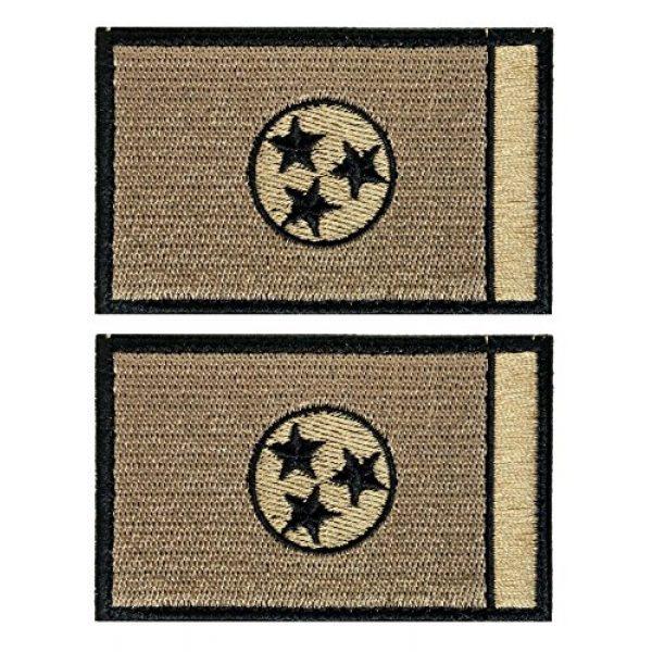 WZT Airsoft Morale Patch 1 WZT Bundle 2 Pieces Tennessee Tactical Flag Patch - Multitan Patch