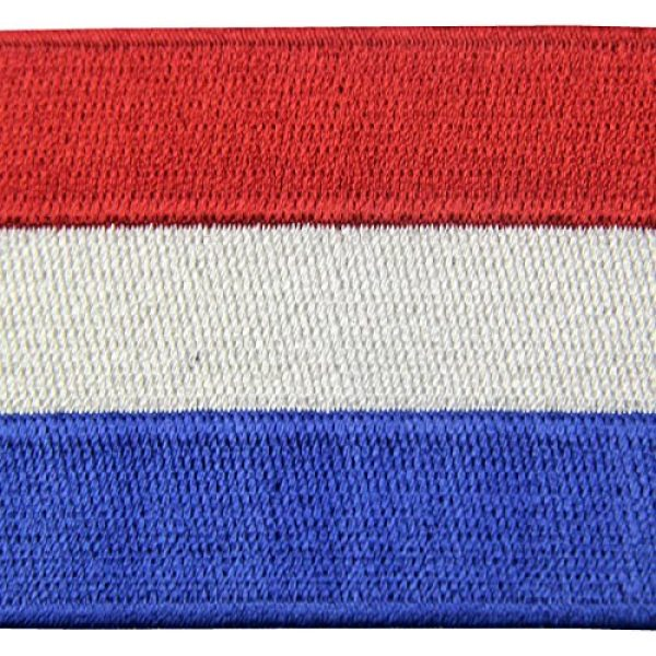 EmbTao Airsoft Morale Patch 2 The Netherlands Flag Embroidered Holland National Emblem Dutch Iron On Sew On Patch