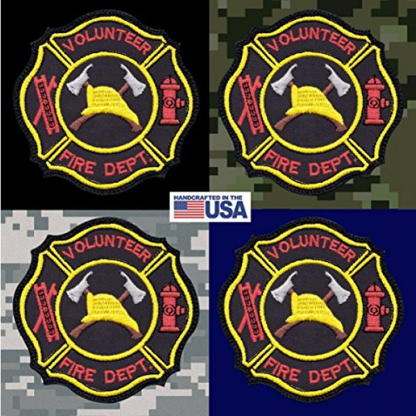 Tactical Patch Works Airsoft Morale Patch 3 Firefighter Hook Ladder Badge Patch
