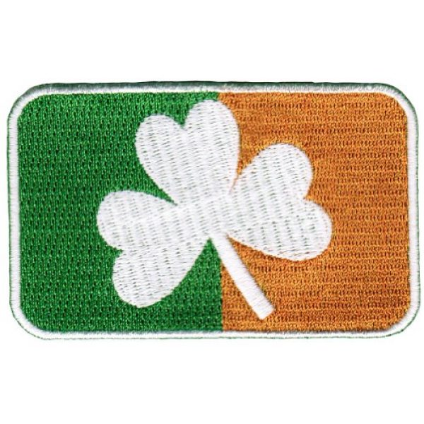 Cypress Collectibles Embroidered Patches Airsoft Morale Patch 1 Ireland Clover Flag Embroidered Patch Irish Shamrock Iron-On Emblem