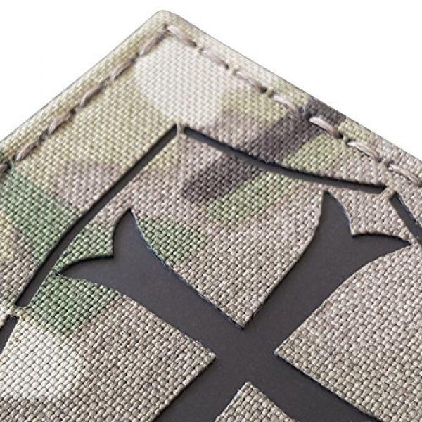 Tactical Freaky Airsoft Morale Patch 3 Multicam Infrared IR Crusader Cross Seal Team DEVGRU 3x3 IFF Tactical Morale Hook&Loop Patch