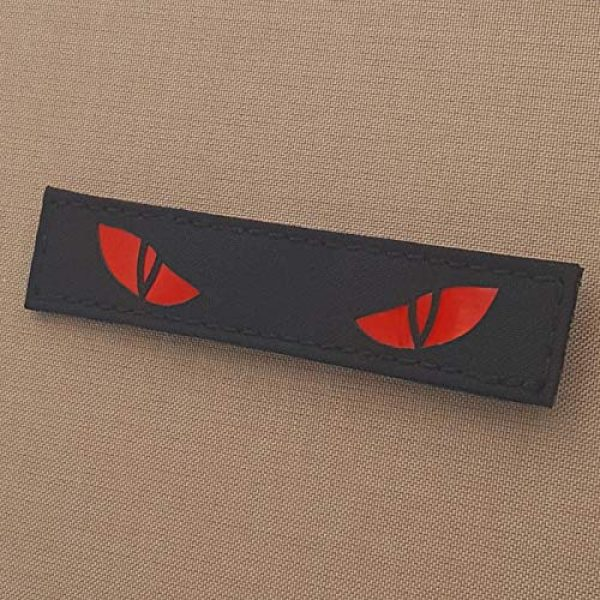 Tactical Freaky Airsoft Morale Patch 4 Reflective Scary Cat Eyes 1x5 GITD Eye Morale Tactical Touch Fastener Patch